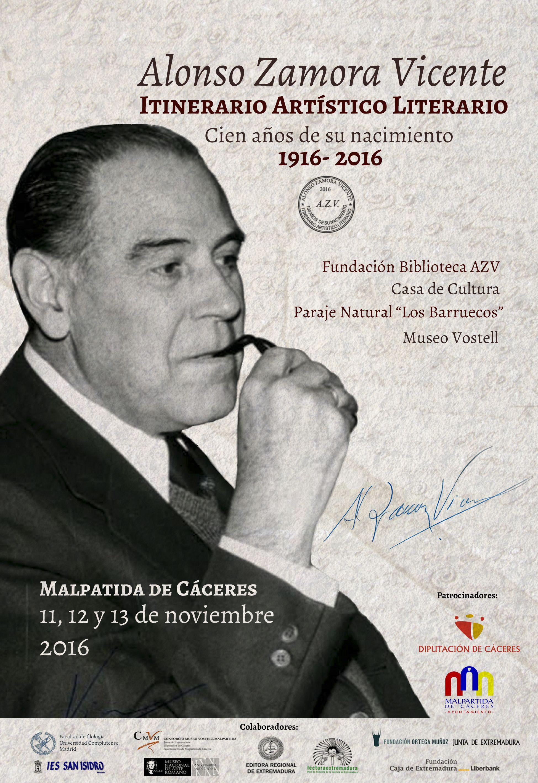 01-cartel-alonso-zamora-vicente-11-al-13n-2016-itinerario-artistico-literario