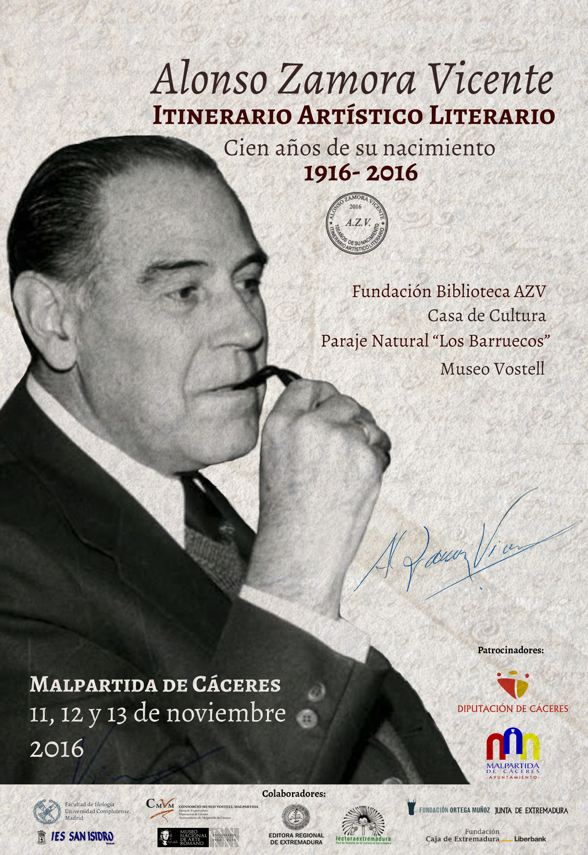 cartel-itinerario-alonso-zamora-vicente-100-anos-de-su-nacimiento-1916-2016